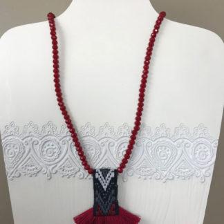 Burgundy Stone Necklace