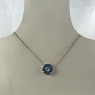 Blue Rose Gold Necklace