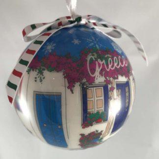 Blue Village Ornament